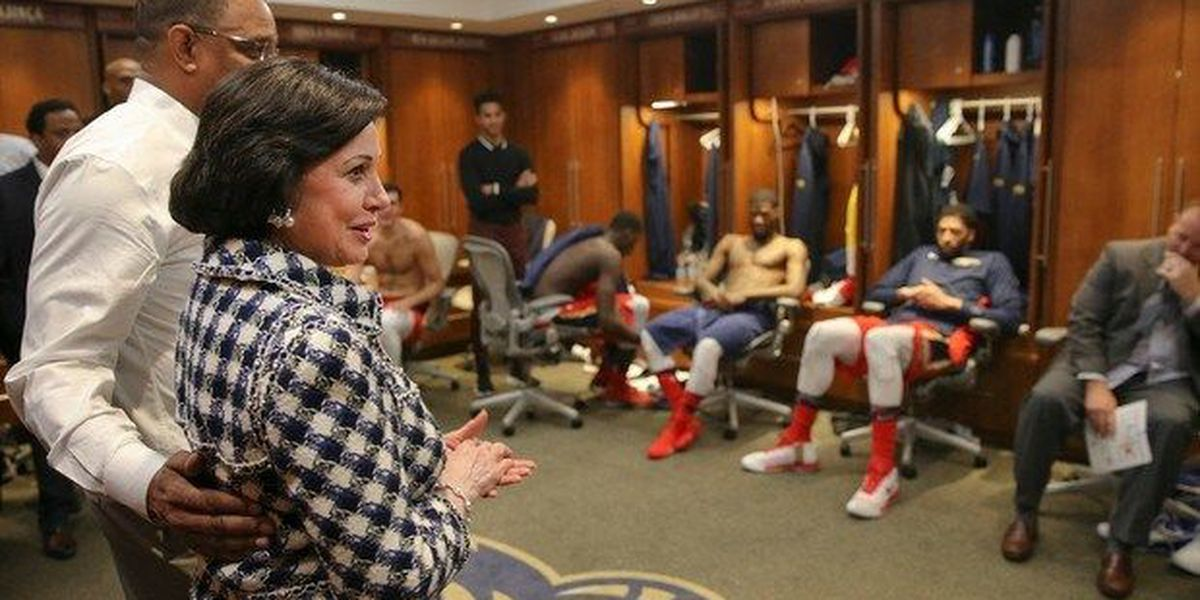 Gayle Benson's support in Portland helping with Pels' success
