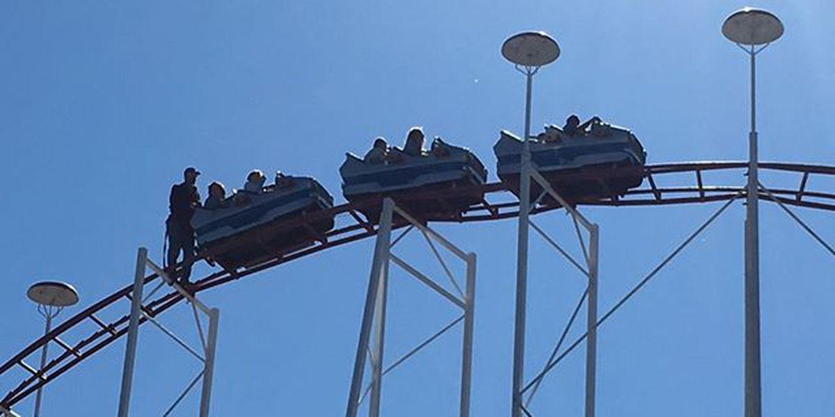 12 school-age kids rescued after Wonderland roller coaster gets stuck