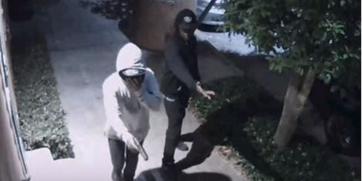 Chilling video shows armed robbery in progress