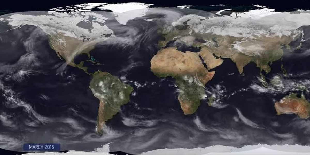VIDEO: A year of weather in under 9 minutes