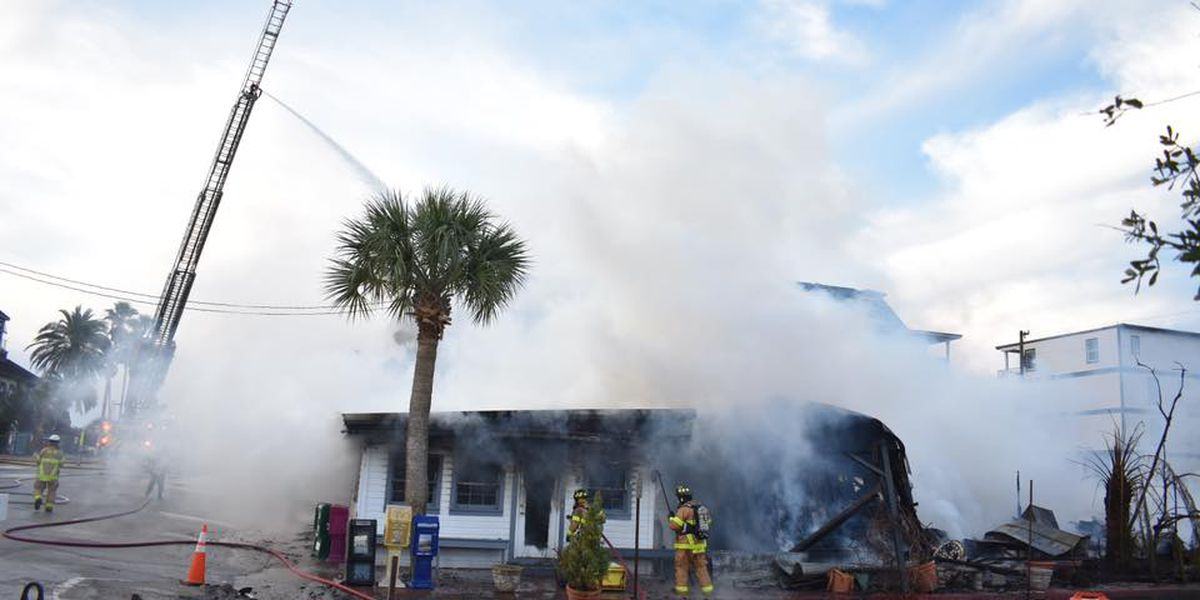 Beachside Red Bar in Florida's Panhandle destroyed by fire