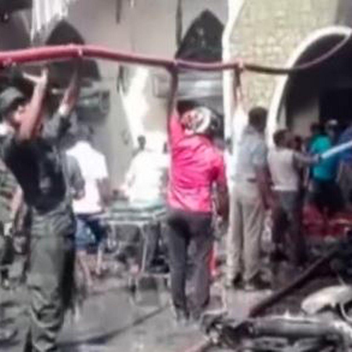 Van explodes near bombed Sri Lanka church