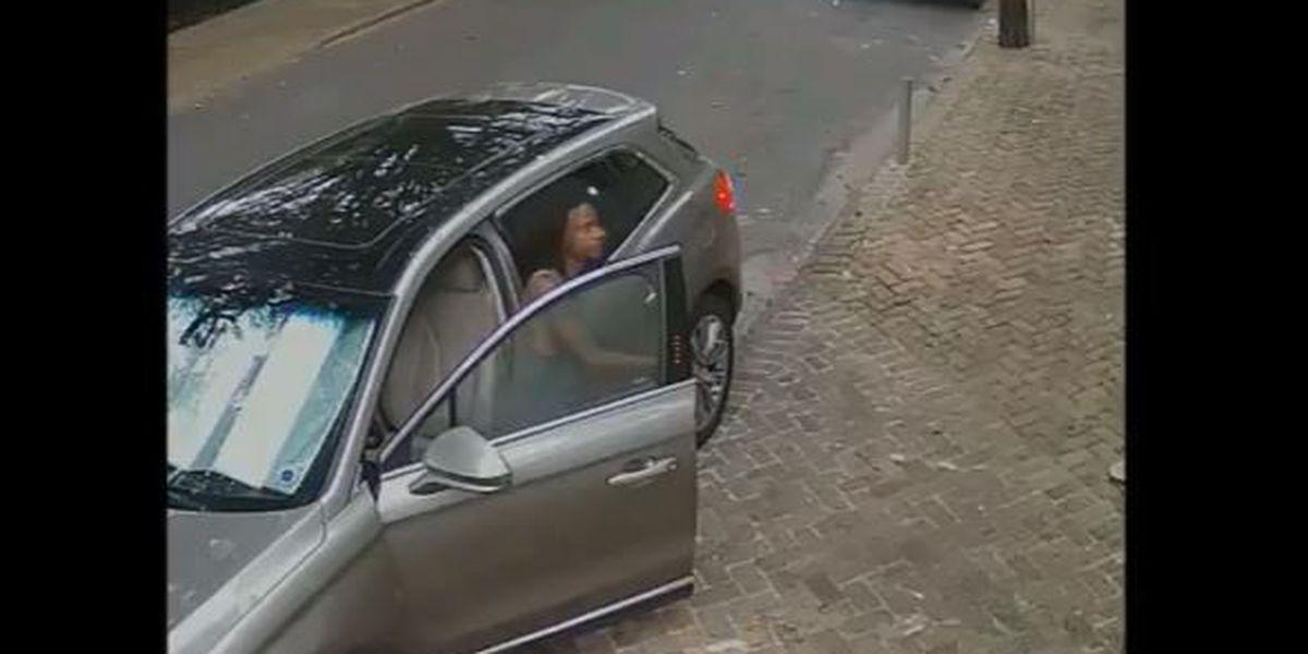Surveillance cameras catch man breaking into car in Lower Garden District