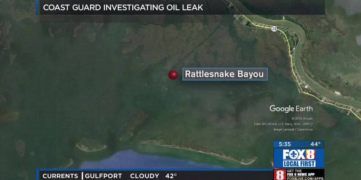 Coast Guard: Crude oil well leaking in Rattlesnake Bayou