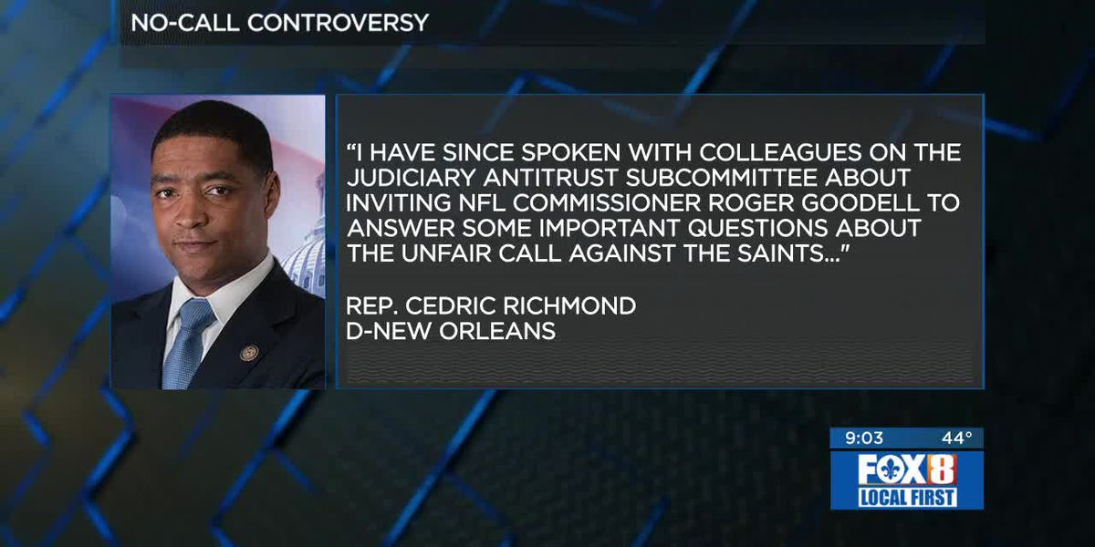 Rep. Richmond invites Goodell to Congress to answer questions on Saints call
