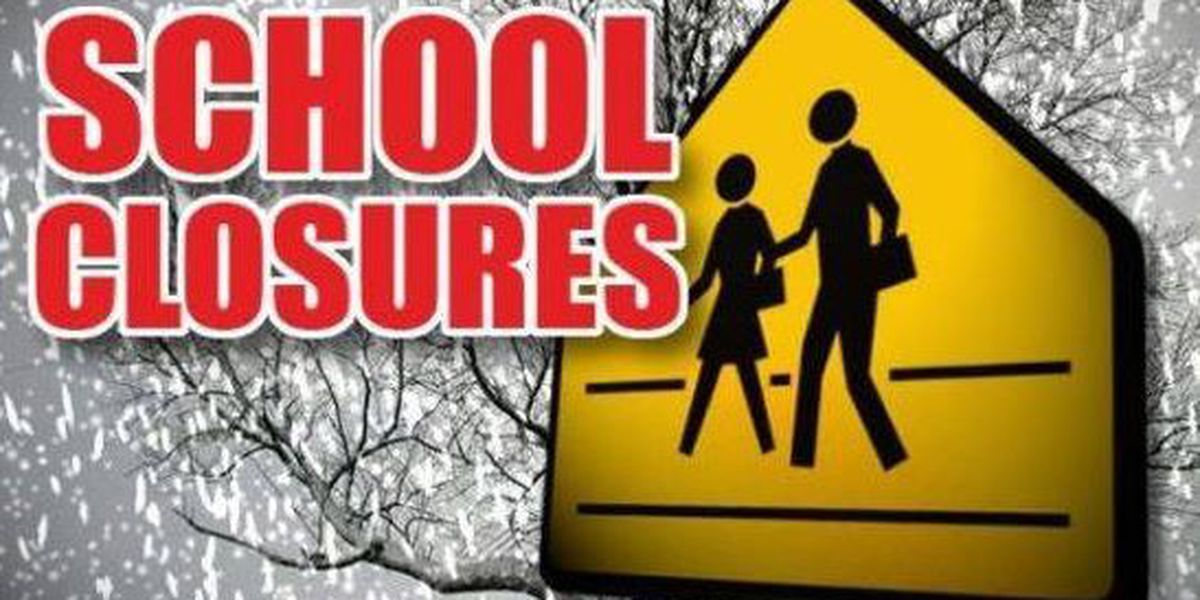 List of weather-related school closures grows