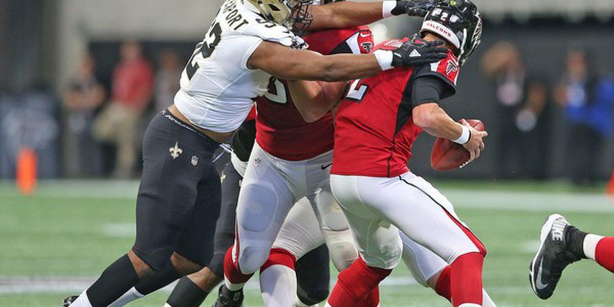 Defensive end Marcus Davenport active for Saints-Falcons, Tre'Quan Smith inactive