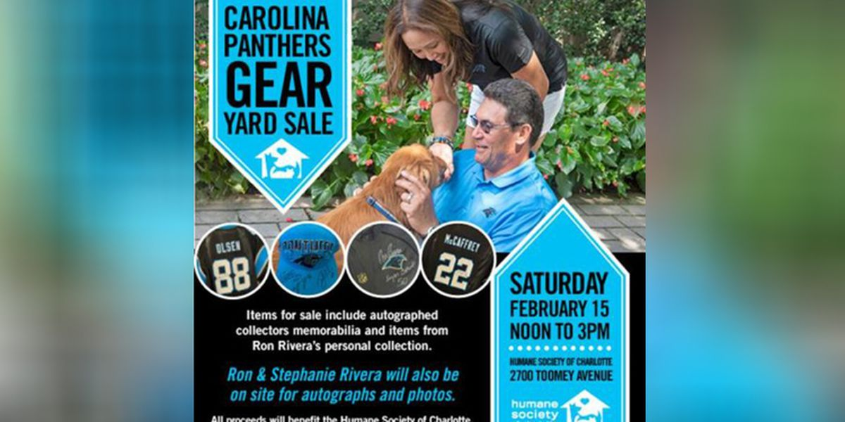 Panthers gear yard sale will include autographed memorabilia from Ron Rivera