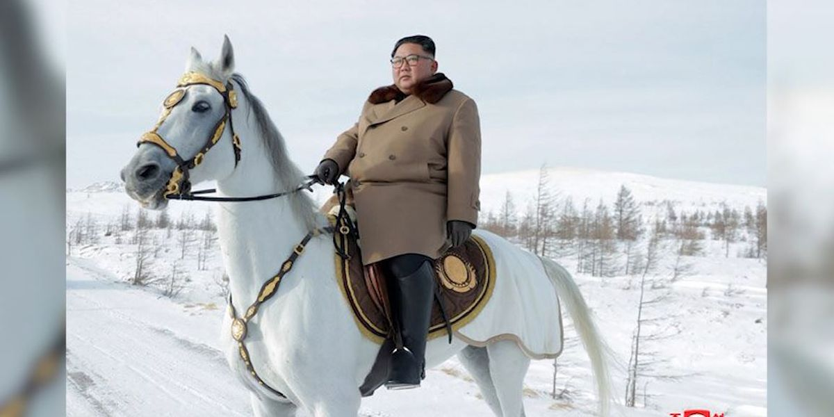 Kim again rides horse up sacred peak as nuke deadline nears