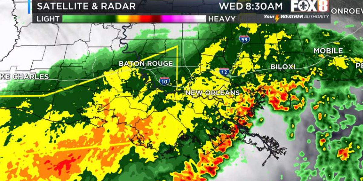 Heavy storms shift offshore as rain continues