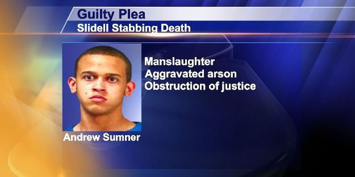 Guilty plea entered in Slidell stabbing and burning death