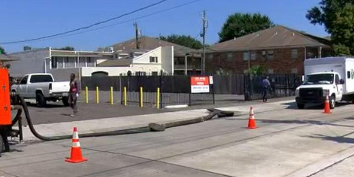 Crews make repairs in Metairie after sewage backs up into street